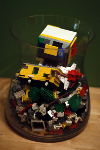 Glass Container - Legos