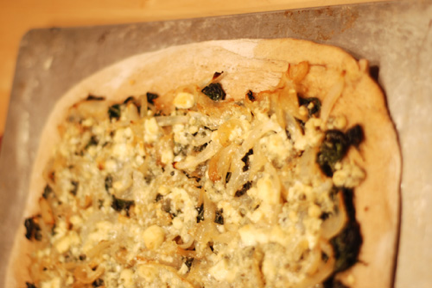 Spinach-Pizza