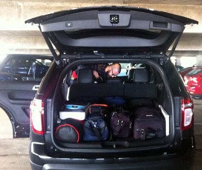 there - Ford Explorer 2015 Trunk Space