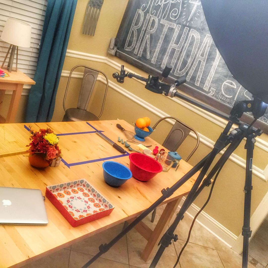 A behindthescenes look at filming a recipe video for thehellip