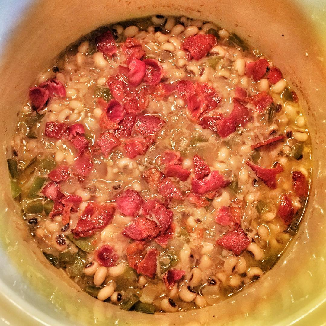 Trying a new recipe for newyears  Hoppin John fromhellip