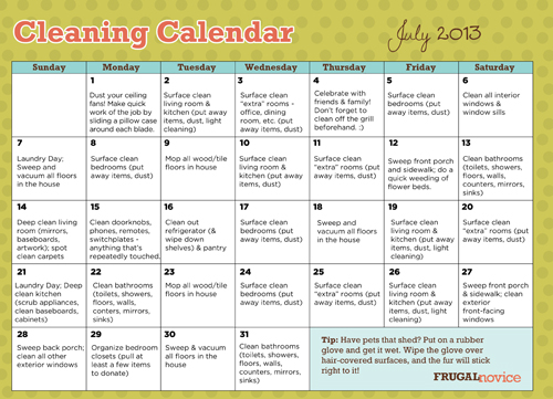 CleaningCalendar_July2013_Small