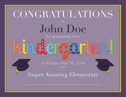 Kindergarten Diploma Free Printable Frugal Novice – Graduation Certificate Template Free
