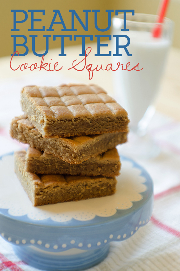 Peanut-Butter-Cookie-Squares