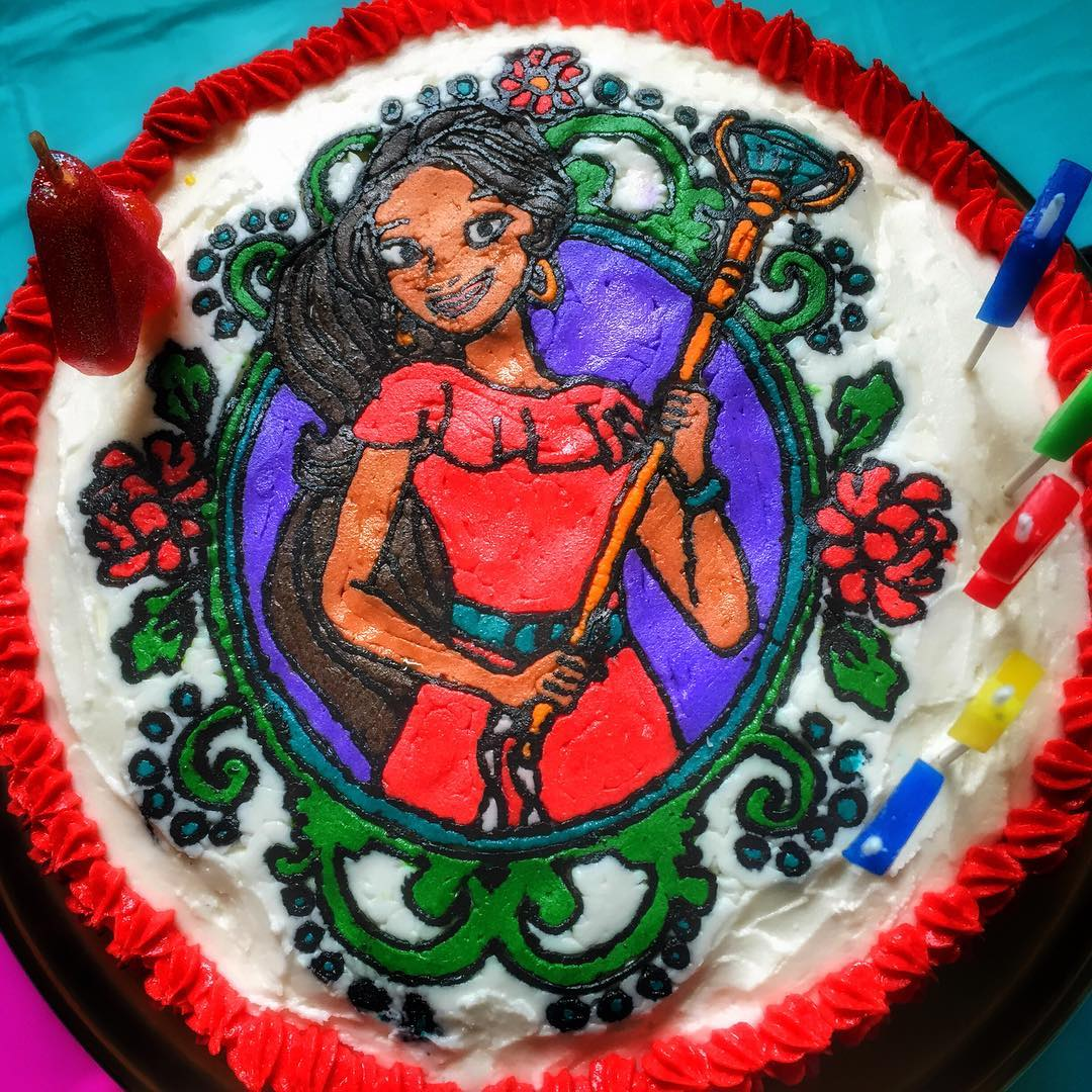 Heres the finished Elena of Avalor cake! Check out myhellip