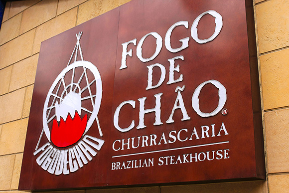Fogo de Chao Brazillian Steakhouse Restaurant wall sign