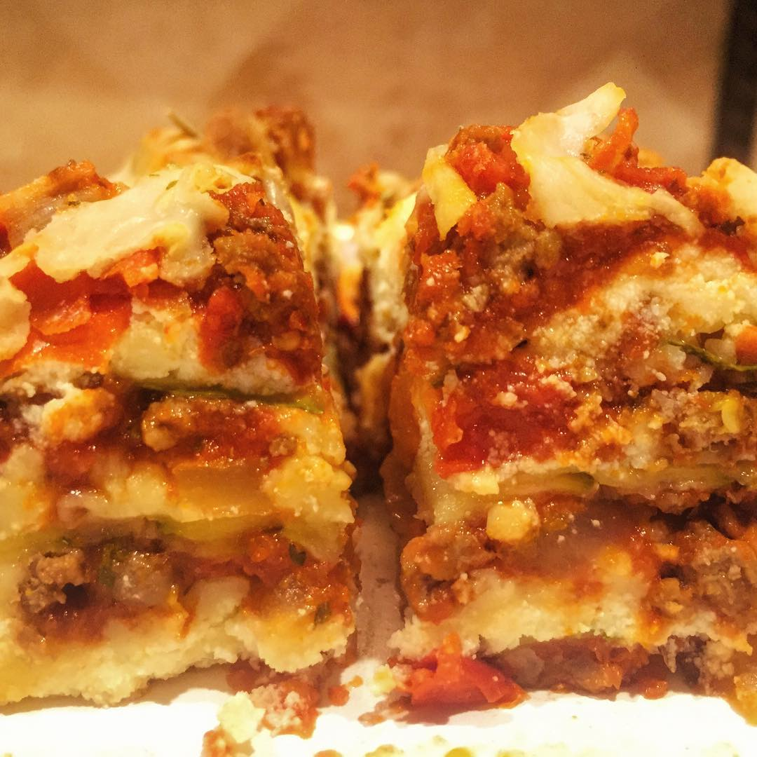 We love skinnytaste zucchini lasagna! I dont even miss thehellip