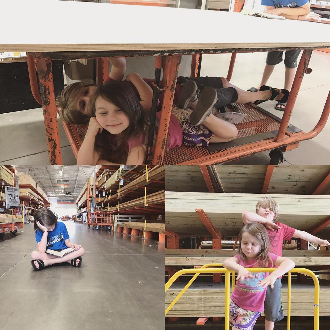We are at Home Depot a LOT lately The kidshellip