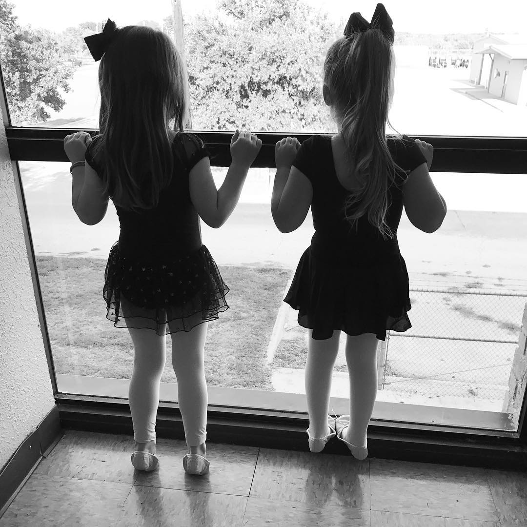 First day of ballet for these two friends! dance adorable