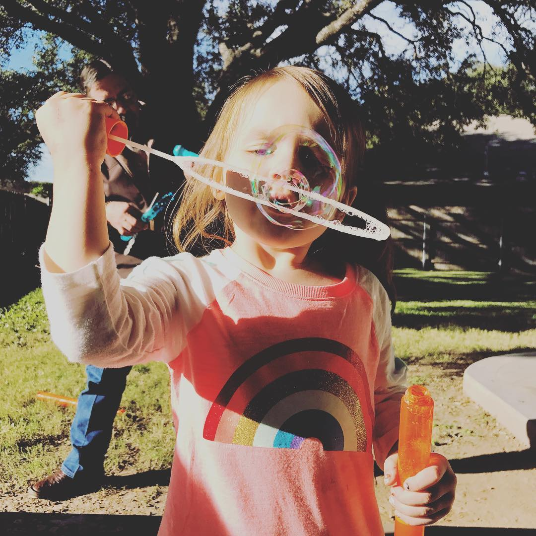 Perfect Saturday afternoon activity! bubbles fun sunshine