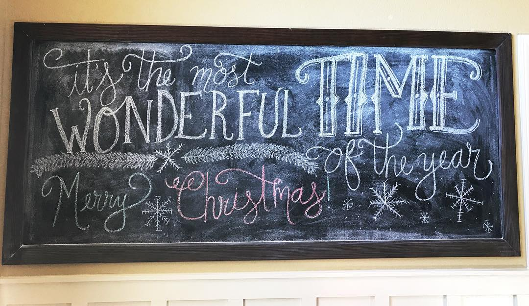 Its not officially Christmastime in our house until the chalkboardhellip