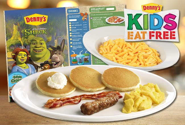 Denny's Free Pancakes For Kids! For Kids ages 10 & under every day in September from p.m. with the purchase of one adult entrée.