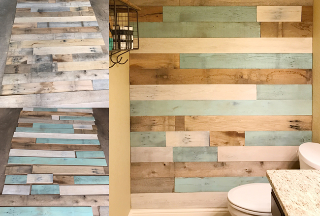 Diy Bathroom Makeover With A Gorgeous Reclaimed Wood Wall